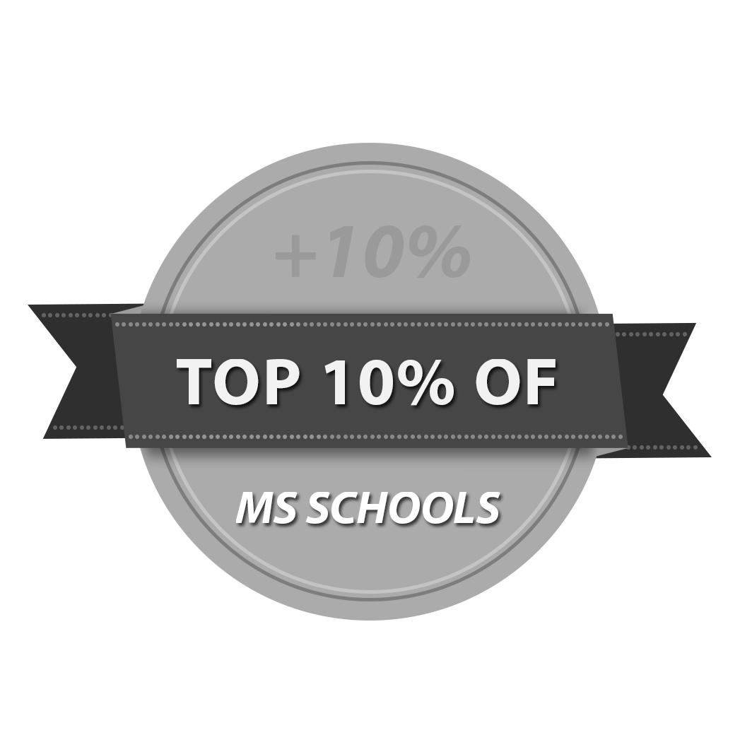 Top 10 Percent of MS Schools